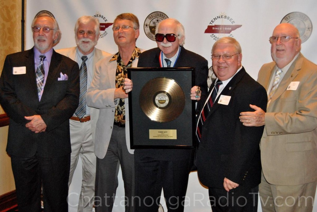 Tommy Jett, surrounded by radio friends at his Hall of Fame induction, May 4, 2013