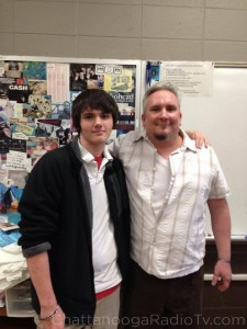"Chris DeRogatis & teacher John Baum ""before"""