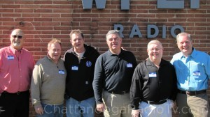 WFLI 1970s DJs: Rich Phillips, Gene Lovin, Bill Poindexter, Bill Miller, Max O'Brian & David Carroll