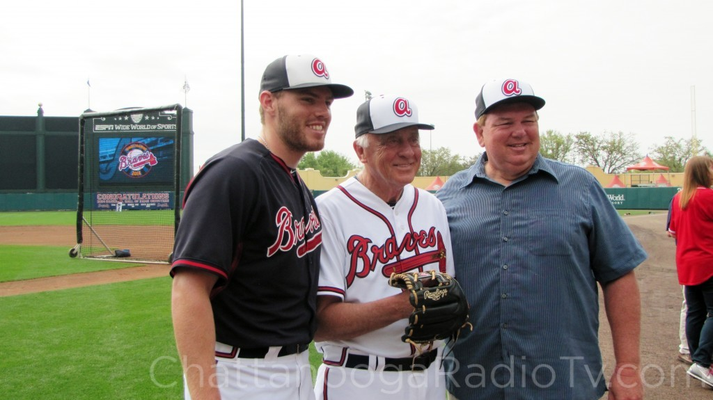 Freddie Freeman, Phil Niekro and Fred Freeman