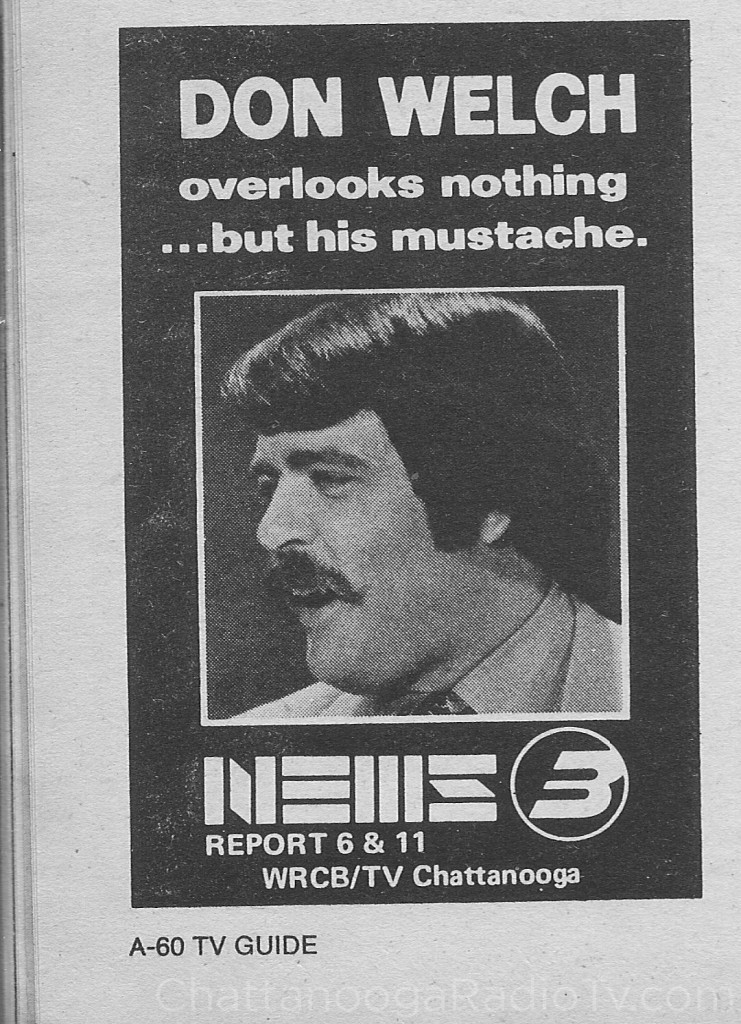 1975 WRCB Don Welch ad in TV Guide
