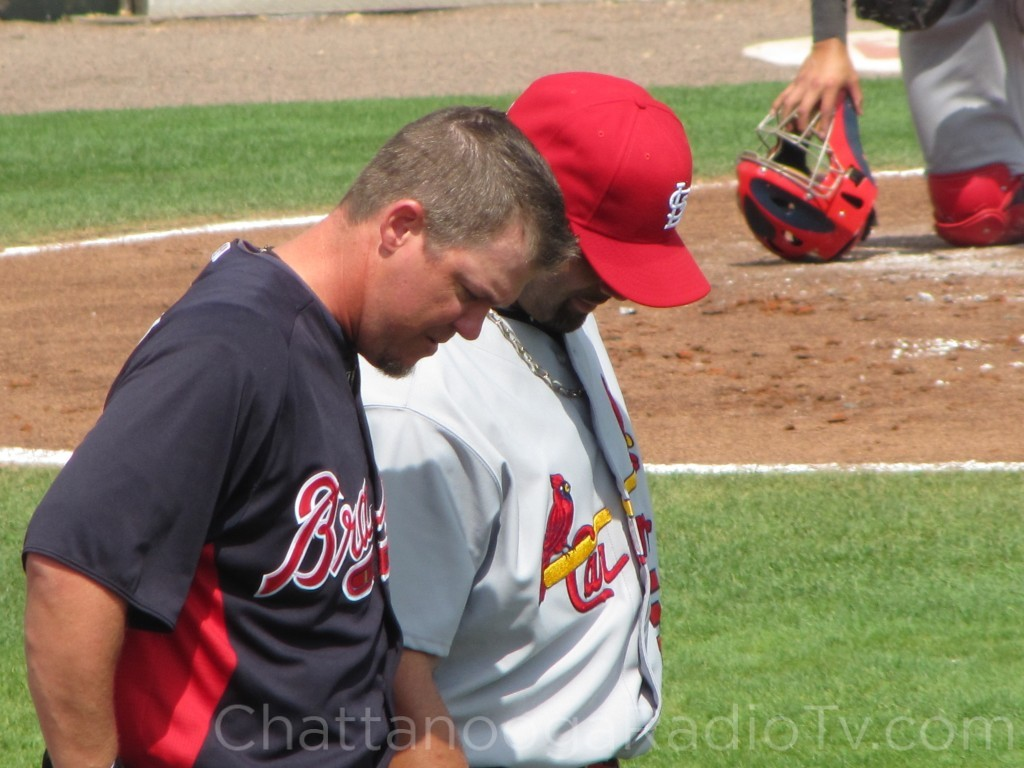 Chipper Jones & Albert Pujols, March 9, 2011