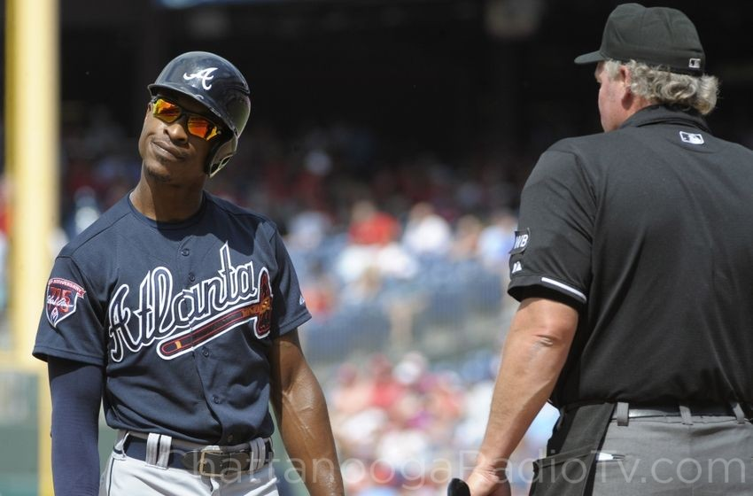 B.J. Upton and umpires didn't see eye to eye