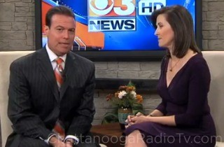 Dave Benton and co-anchor Jennifer Roscoe