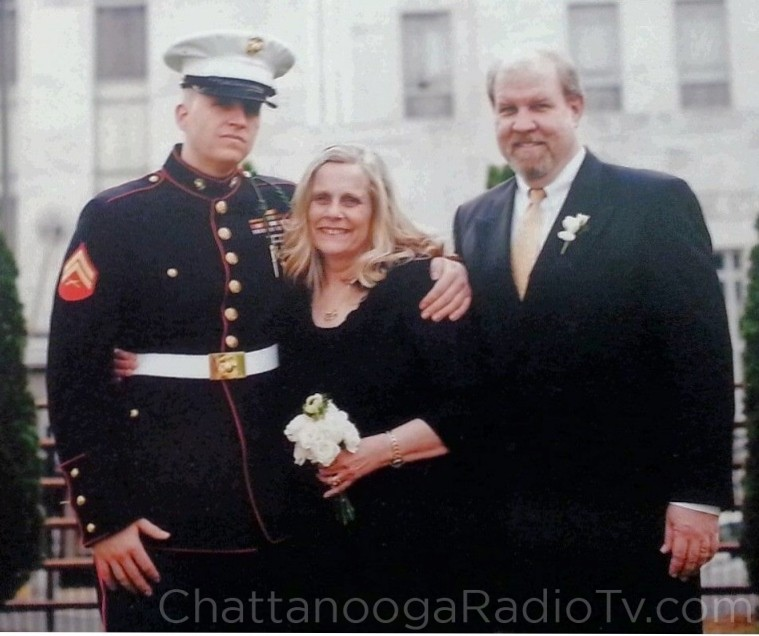Nathan with his parents, Janice and David Rogers