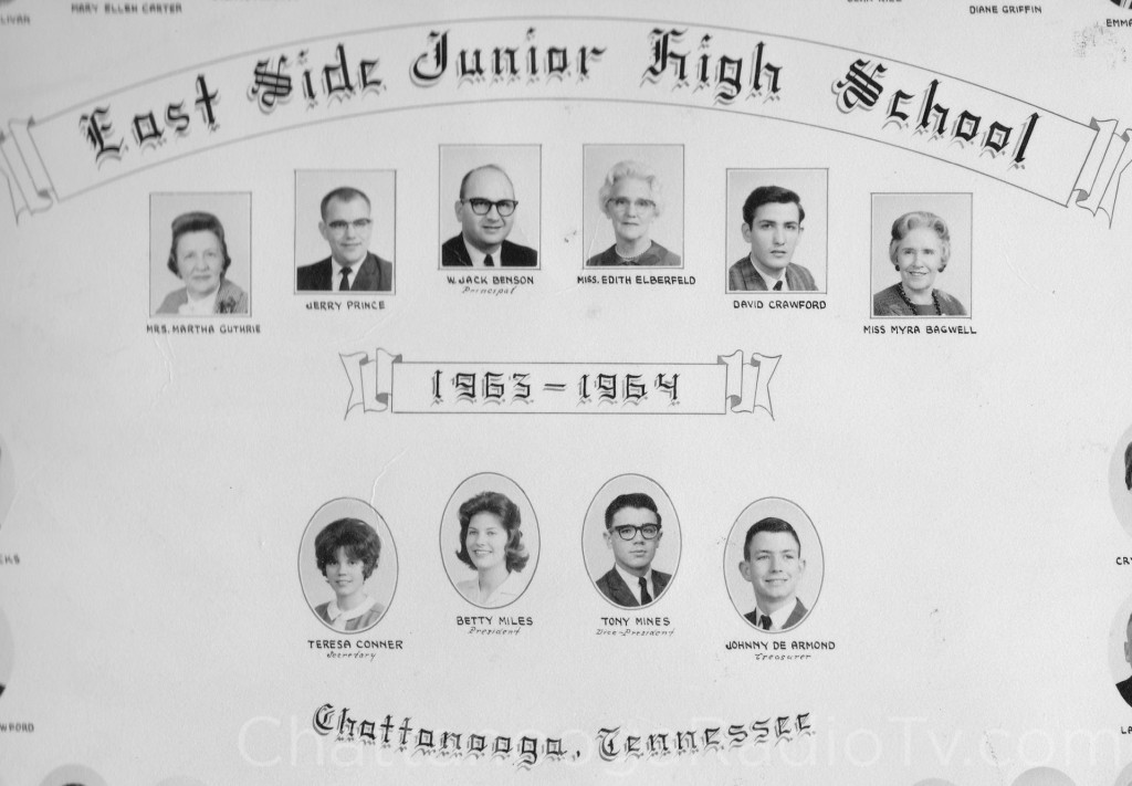 1963-64 photo, while Jack Benson was principal of East Side Jr. High
