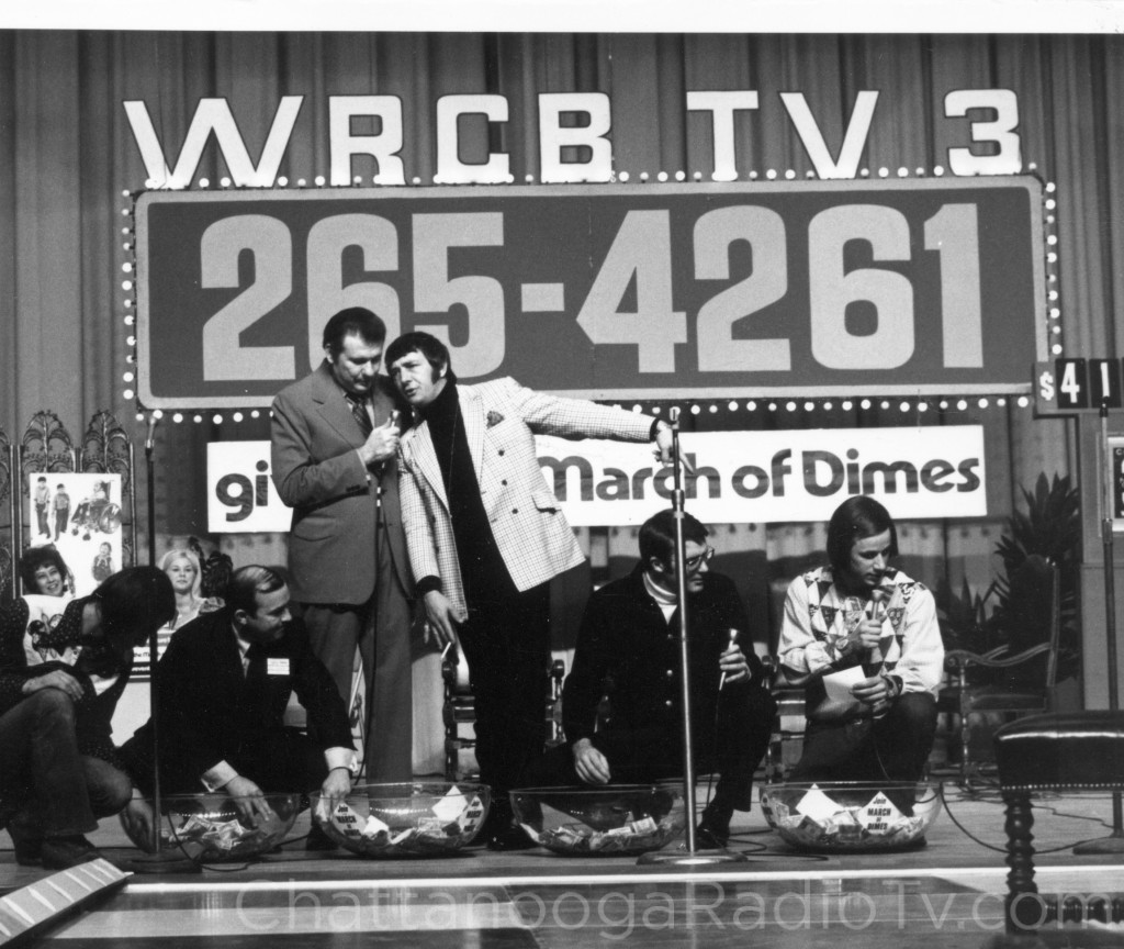 1972 March of Dimes Telerama, with Roy Morris and Richard Dawson standing