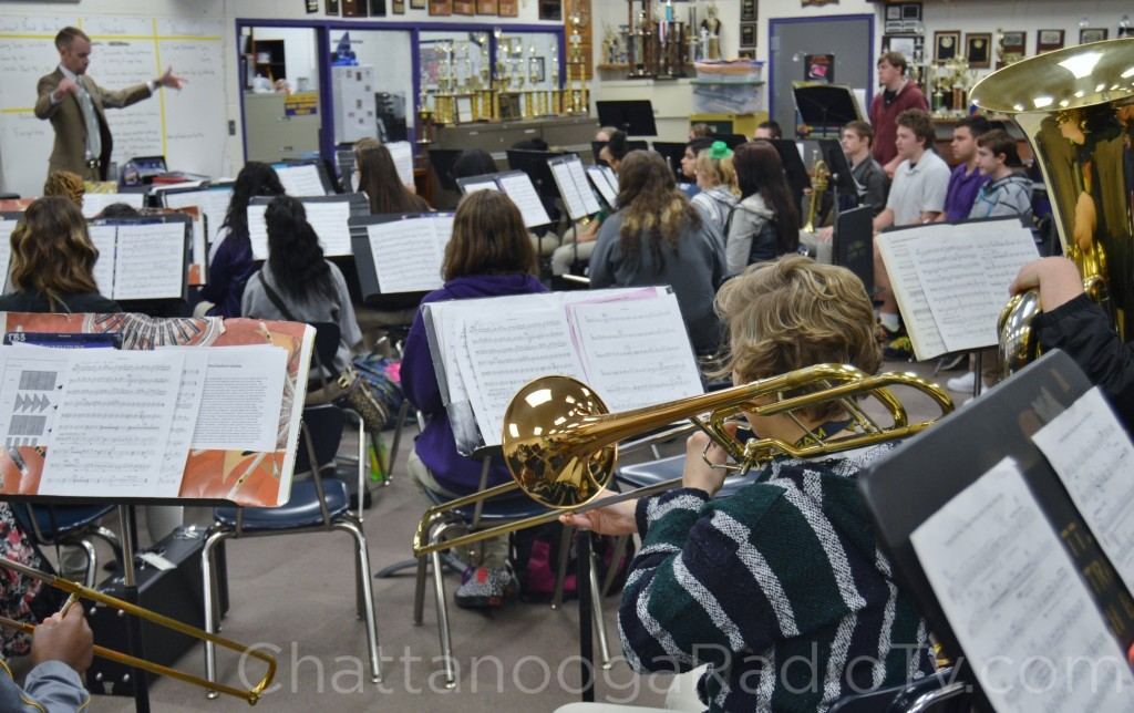 Central High Band practicing