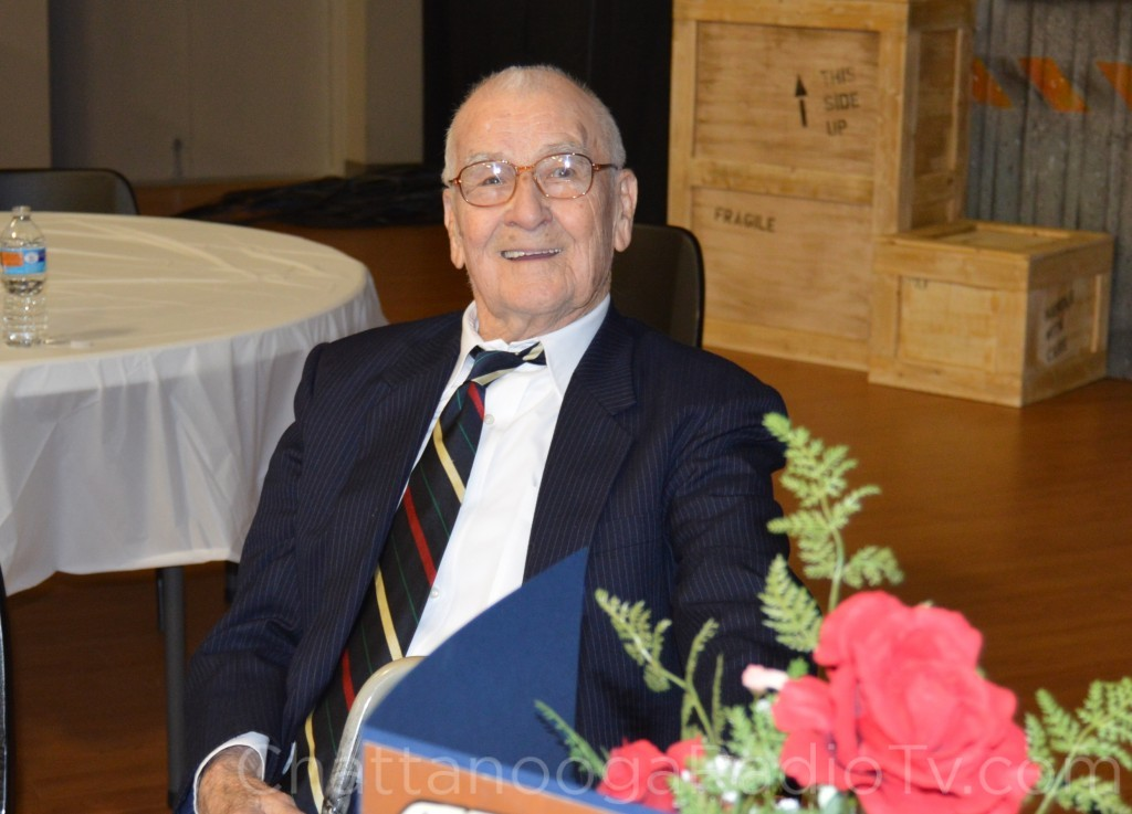 Claude Ogle Sr. on his 100th birthday, Feb. 22, 2015
