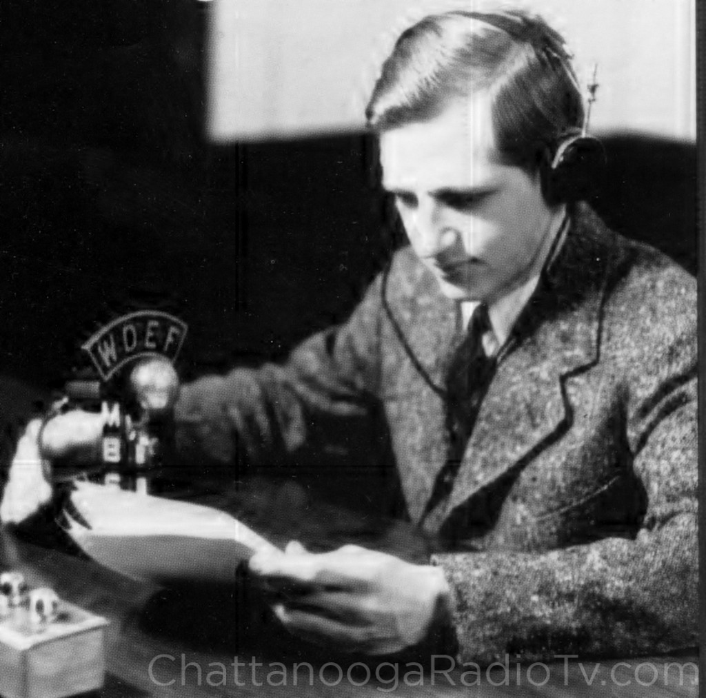Luther at age 19, at the WDEF microphone