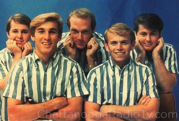 Carl Wilson, Dennis Wilson, Mike Love, Al Jardine and Brian Wilson in 1965