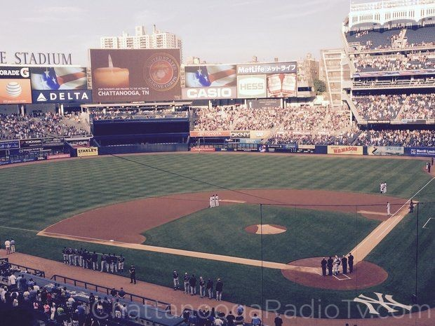 Players and fans at Yankee Stadium in New York pause Friday night to remember our fallen heroes in Chattanooga (from NJ.com)