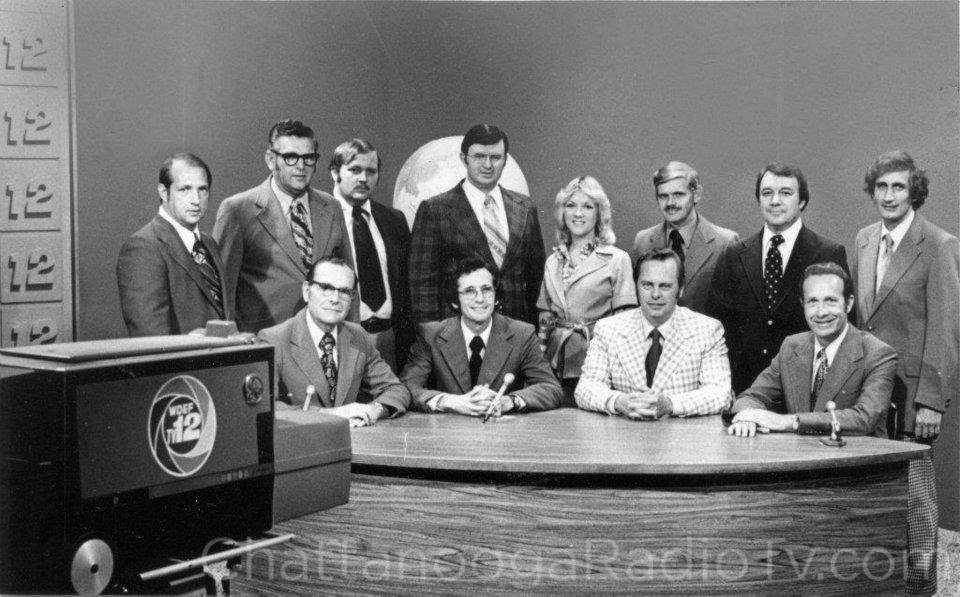 1975 WDEF team, with Bill McAfee seated front right.