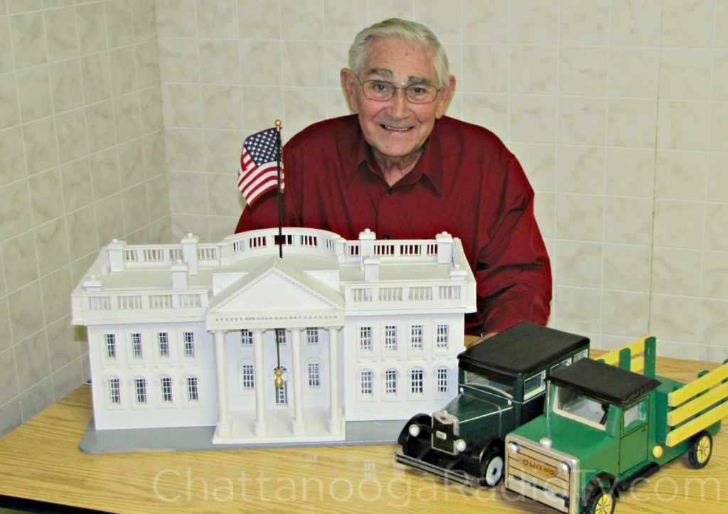 Owen Norris with his White House replica
